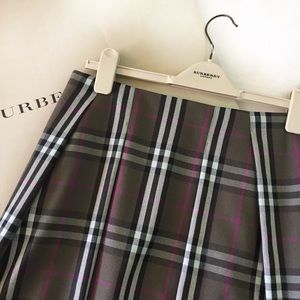 Authentic Burberry British Check skirt size 4